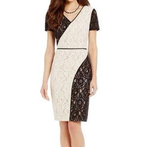 Antonio Melani Black & White Lace Dress